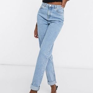 ASOS Light Wash High Rise Mom Jeans (Tall)